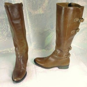 Matisse   Becky brown leather kneehigh strap boots
